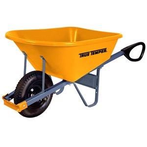 True Temper 270-lb Capacity Poly Wheelbarrow
