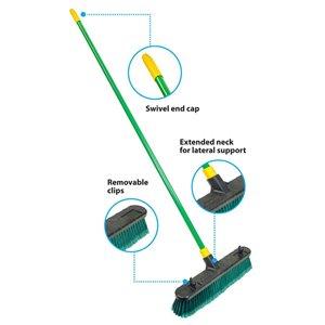 Quickie BULLDOZER 18-in Poly Fiber Stiff Push Broom