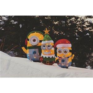 Universal Holiday Tinsel Yard Sculpture-Minion Stuart-22-in