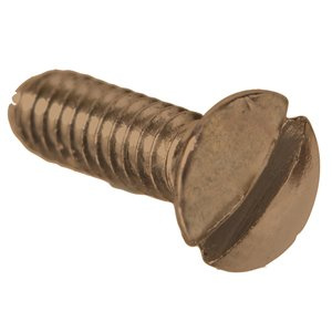 Hillman #6-32 x 1-in Antique Brass Oval-Head Slotted Standard (SAE) Machine Screw (2-Count)