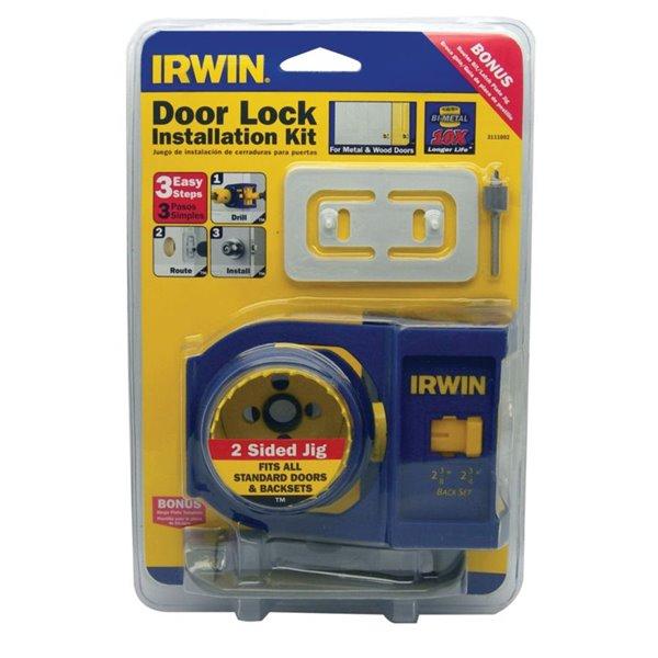 Bi-Metal Door Lock and Deadbolt Installation Kit for Wood and Metal Doors