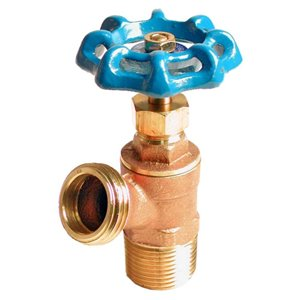 Dual Pattern Brass Boiler Drain Valve