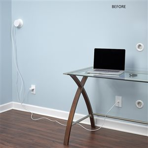 Wiremold 2-in x 60-in Low-Voltage White Cord Cover