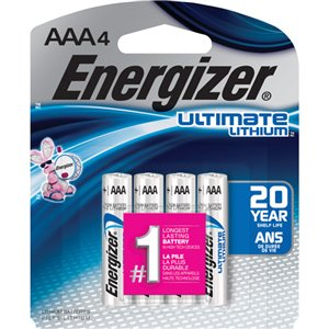 Energizer AAA Lithium Batteries (4-Pack)