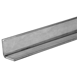 Hillman 3-ft x 1-in Plated Steel Solid Angle