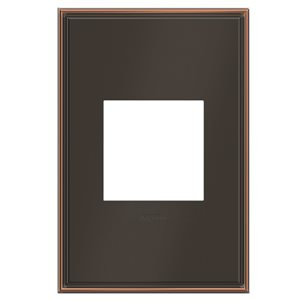 Legrand adorne 1-Gang Square Beveled Metal Wall Plate (Oil-Rubbed Bronze)