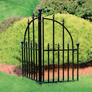 No Dig Empire Steel Fence Right End Unit