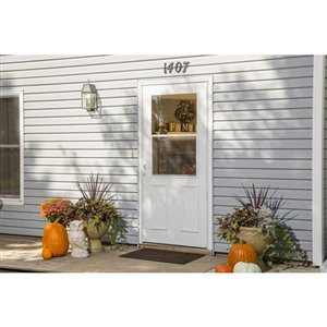 LARSON 36-in Villager White High-View Tempered Glass Half Screen Storm Door