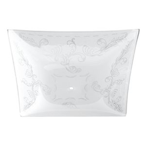 Litex White Frost Square Etched Glass Shade