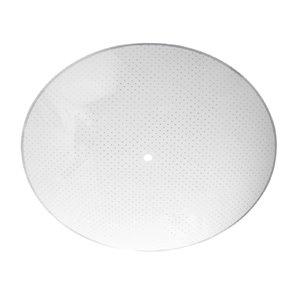 Litex 13-in Round White Opal Glass
