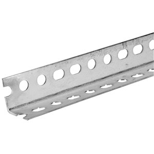 Hillman 1-1/2-in W x 1-1/2-in H x 5-ft L Zinc-Plated Steel Perforated-Slotted Angle