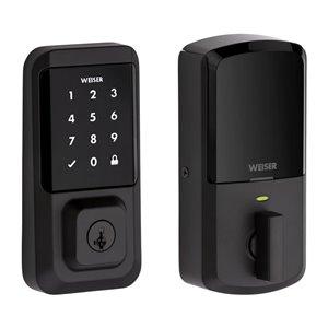 Weiser Halo Touchscreen Wi-Fi Smart Lock in Iron Black