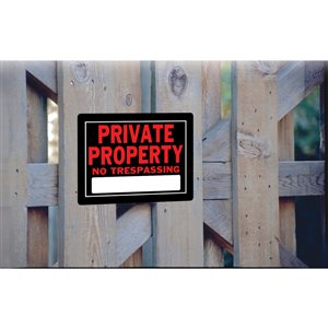 Hillman 10-in x 14-in Private Property Sign