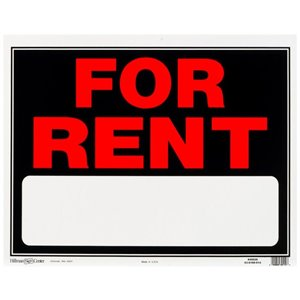 Hillman 15-in x 19-in For Rent Sign