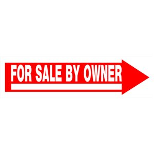 6-in x 24-in For Sale By Owner Sign