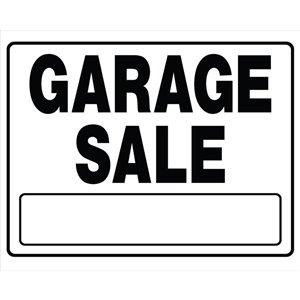 Hillman 20-in x 24-in Garage Sale Sign