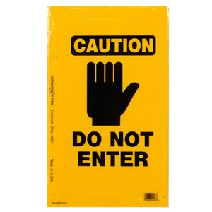 Hillman 20-in x 12-in Caution Do Not Enter- Tent Sign