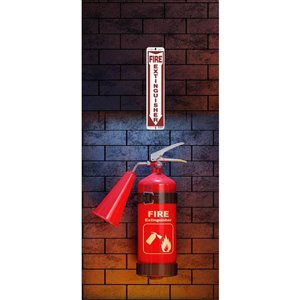 Hillman 18-in x 4-in Fire Extinguisher Sign