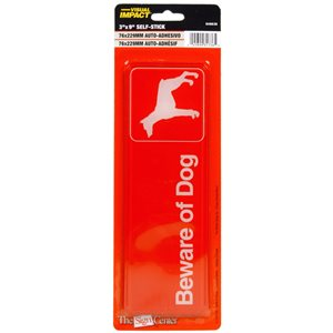 Hillman 3-in x 9-in Beware of Dog Sign