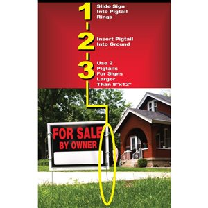 Hillman 28-in x 1.75-in Pigtail Sign Holder