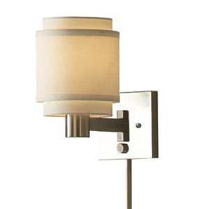 Westwood Collection 10-1/8-in Swing-Arm Wall-Mounted Lamp with Cream Shade
