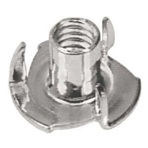 Hillman #10-24 Stainless Steel Standard (SAE) 3-Prong Tee Nuts (2-Pack)
