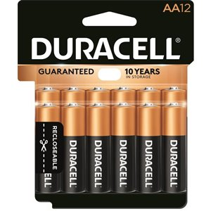 Duracell Coppertop AA Alkaline Battery (12-Pack)