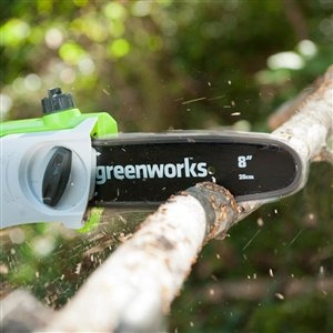 Greenworks 40 Volt 8 In. Cordless Electric Pole Saw w/1 x 2 Ah Battery and Charger