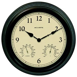 AcuRite Copper Patina Wireless Clock with Thermometer and Hygrometer