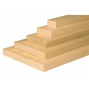 1-in x 4-in x 3-ft Kiln-Dried Poplar Board