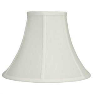 9.5-in x 12.5-in White Fabric Bell Lamp Shade