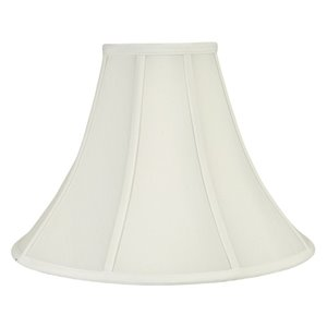 11-in x 16-in White Bell Lamp Shade