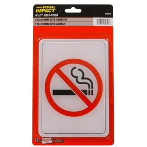 Hillman 7-in x 5-in Smoking Sign