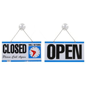 Hillman 5-3/4-in x 11-1/4-in Open/Closed 2-Sided Sign