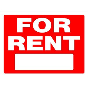 Hillman 18-in x 24-in For Rent Sign