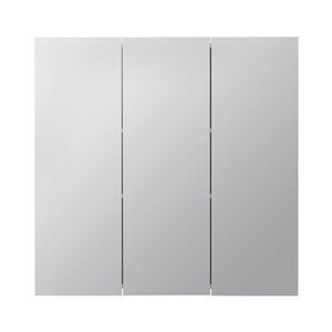 Style Selections 30.25-in x 29.75-in Square Surface Medicine Cabinet with Mirror