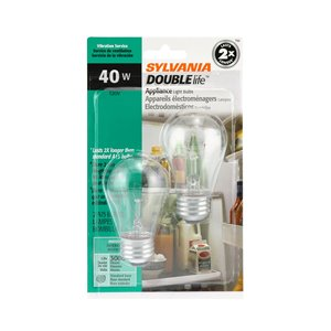 SYLVANIA 40-Watt/350 Lumens Medium Base (E-26) Dimmable A15 Incandescent Light Bulb (2-Pack)