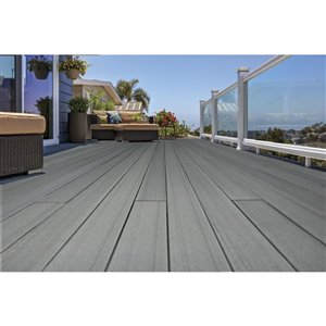 Timbertech Edge- Sea Salt Gray 5.5-in x 16-ft Grooved Edge Deck Board - Prime + Collection