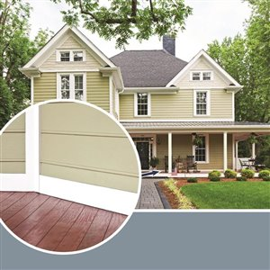 Royal Mouldings Limited 3/4-in x 7-1/4-in x 8-ft White Pre-Finished Embossed PVC Trim Board