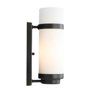 Portfolio 4.5-in W 1-Light Aged Bronze Pocket Hardwired Wall Sconce