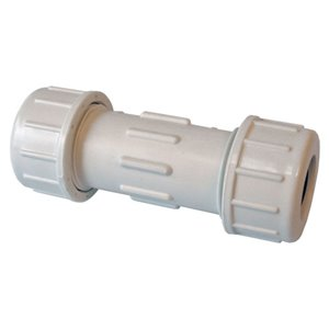 1-in Dia. PVC SCH 40/80 Compression Coupling Fitting