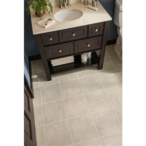 Style Selections Sienna 12-in x 12-in Almond Porcelain Floor Tile