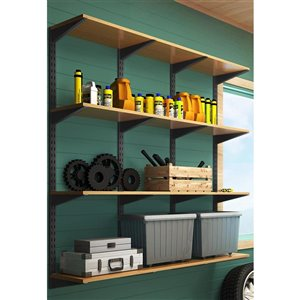 Style Selections 14 1/2-in Double Track Shelf Bracket