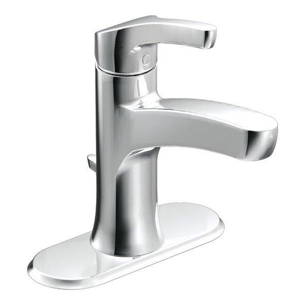 Moen Danika Chrome 1 Handle Single Hole 4 In Centerset Watersense Bathroom Sink Faucet With Drain Lowe S Canada
