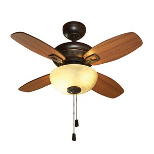 Laralynn 32-in Oil Rubbed Bronze 4-Blade Multi-Position Ceiling Fan with Light Kit