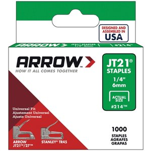 JT21 1/4-in Light-Duty Staples (1,000-Count)