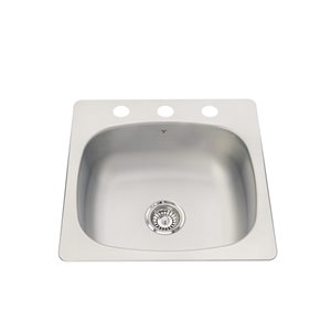 Kindred 20-Gauge 2 Drop-In Stainless Steel Kitchen Sink