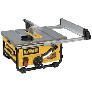 DEWALT 10-in 15 Amp Compact Job Site Table Saw with 20-in Rip Capacity