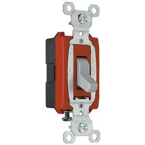 Legrand 15/20-Amp Single Pole Gray Toggle Light Switch