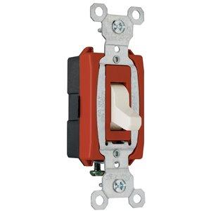Legrand 20-Amp Light Almond Single Pole Switch
